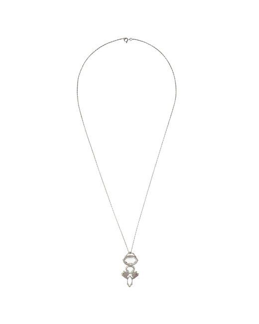Cabinet | Metallic Sterling Silver Swarovski Crystal Crested Pendant | Lyst