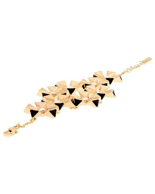 Karen Millen | Metallic Geo Flower Bracelet | Lyst