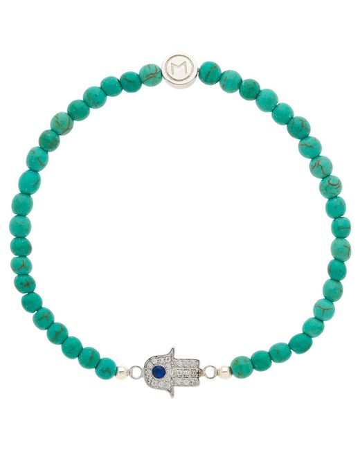 Melissa Odabash - Green Bead And Hamsa Hand Bracelet - Lyst