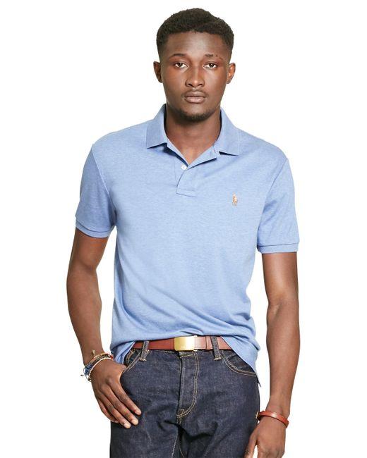 Polo Ralph Lauren | Blue Custom Fit Polo Shirt for Men | Lyst