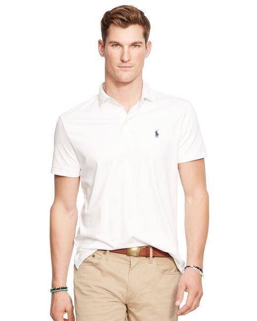 Polo Ralph Lauren | White Pima Cotton Soft Touch Classic Fit Polo for Men | Lyst