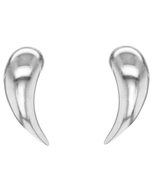 Ib&b | Metallic 9ct White Gold Stud Earrings | Lyst