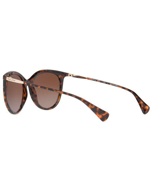 8271d3aaa3 Ralph Lauren Ralph Ra5232 Polarised Cat s Eye Sunglasses in Brown - Lyst