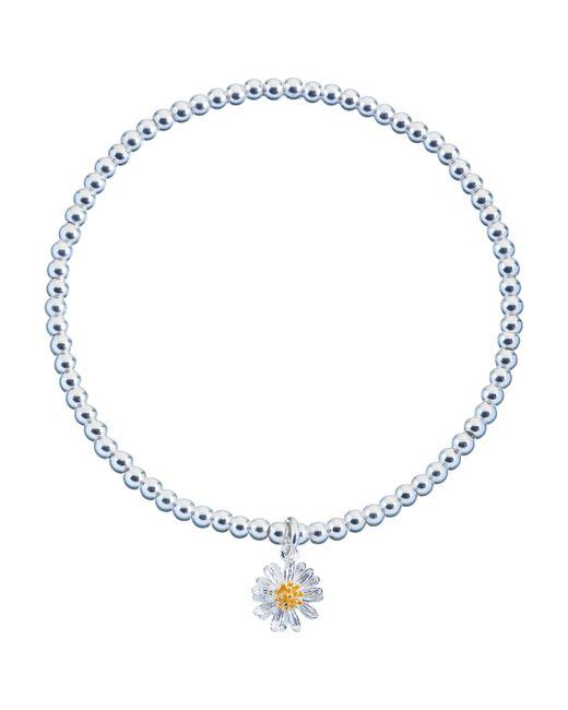 Estella Bartlett - Metallic Sienna Flower Charm Stretch Bracelet - Lyst