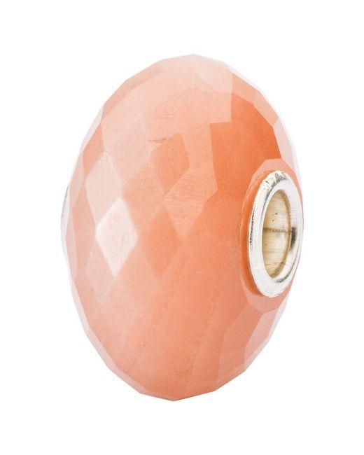 Trollbeads | Orange Sterling Silver Feldspar Moonstone Bead Charm | Lyst