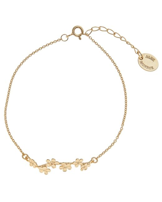 Alex Monroe | Metallic 22Ct Gold Plated Forget Me Not Drift Bracelet | Lyst