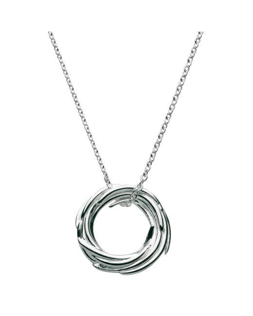 Kit Heath | Metallic Sterling Silver Nest Pendant Necklace | Lyst