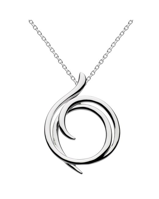 Kit Heath | Metallic Sterling Silver Cubic Zirconia Helix Wrap Necklace | Lyst