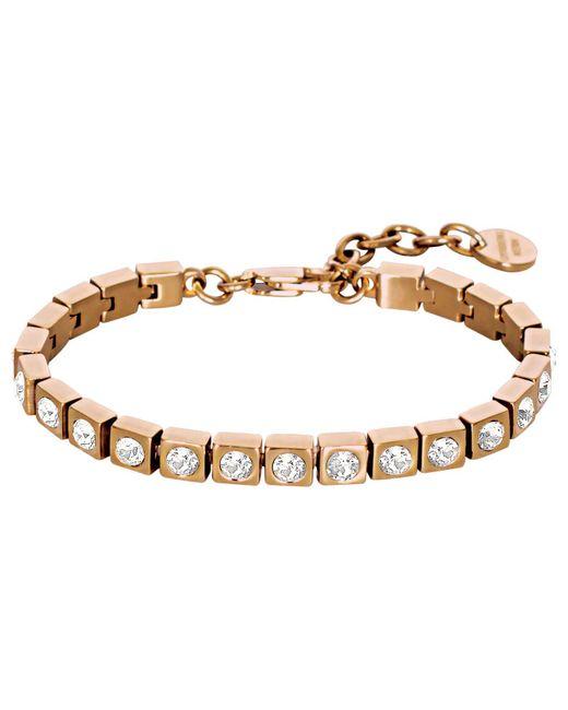 Dyrberg/Kern - Metallic Conian Swarovski Crystal Tennis Bracelet - Lyst