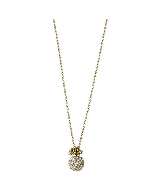 Dyrberg/Kern | Metallic Dyrberg/kern Riania Crystal Globe Skull Pendant Necklace | Lyst