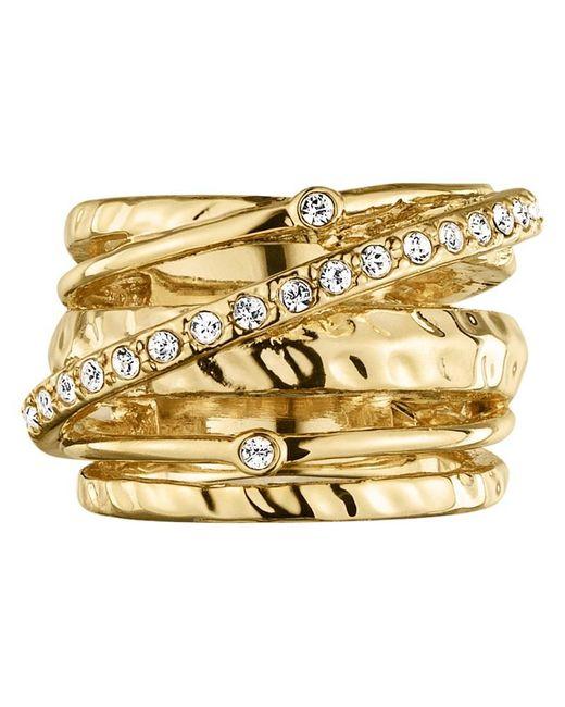 Dyrberg/Kern   Metallic Wendolyn Gold Plated Swarovski Crystal Cocktail Ring   Lyst