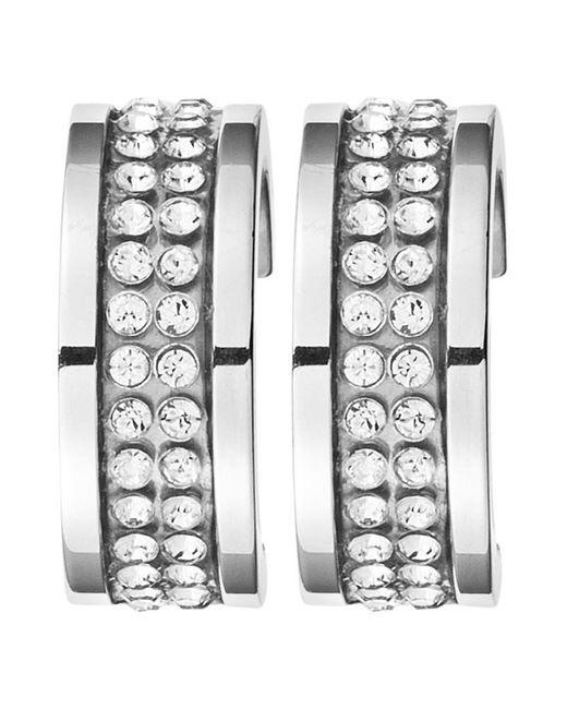 Dyrberg/Kern | Metallic Dyrberg/kern Kimmie Swarovski Crystal Hoop Earrings | Lyst
