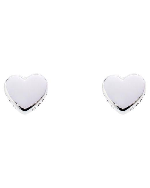 Ted Baker | White Harly Heart Stud Earrings | Lyst
