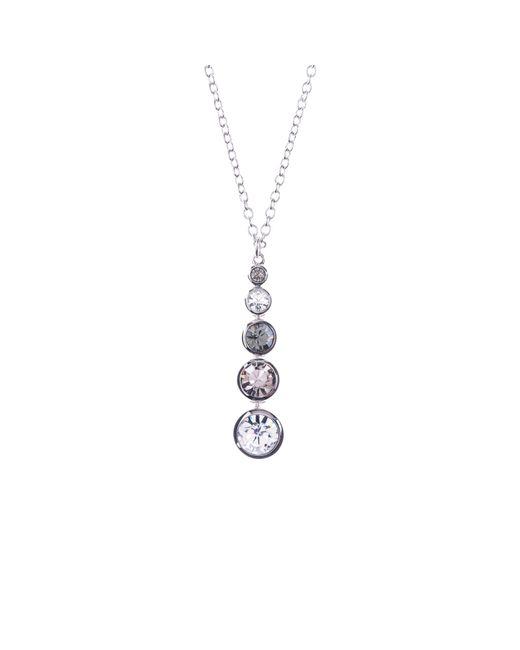 Karen Millen   Metallic Swarovski Teardrop Pendant Necklace   Lyst