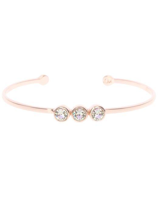 Karen Millen | Pink Swarovski Crystal Dot Cuff | Lyst