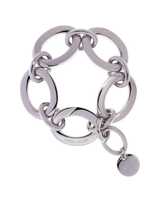 Karen Millen | Metallic Custom Chain Bracelet | Lyst