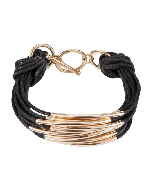 John Lewis | Black Multi Strand Tube Layered Bracelet | Lyst