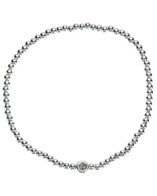 John Lewis | Metallic Mini Bead And Diamante Stretch Bracelet | Lyst