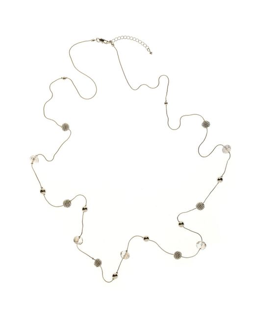 John Lewis   Metallic Facet Acryic Bead And Coil Bead Long Necklace   Lyst