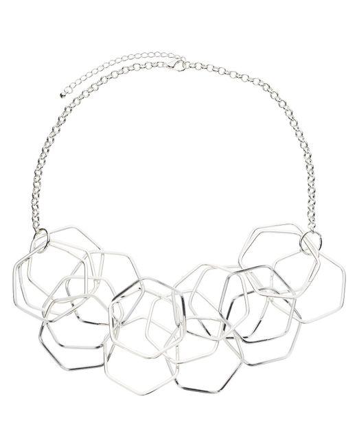 John Lewis   Metallic Hexagonal Necklace   Lyst