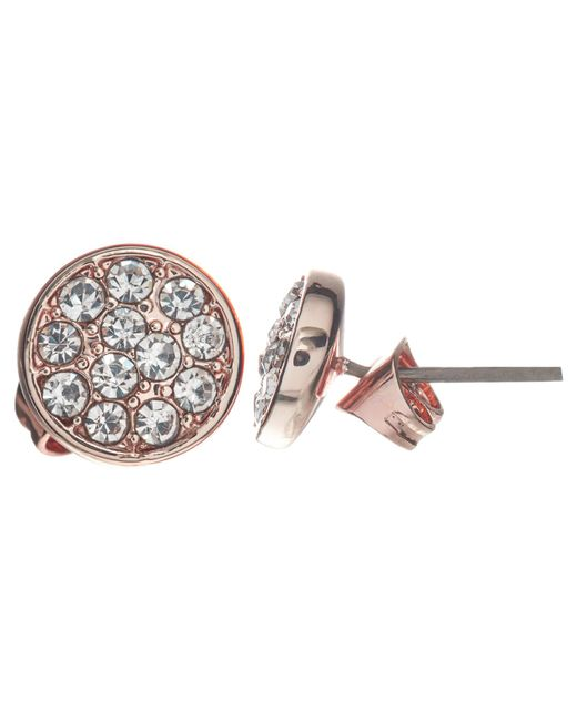John Lewis | Blue Glass Crystal Pave Round Stud Earrings | Lyst