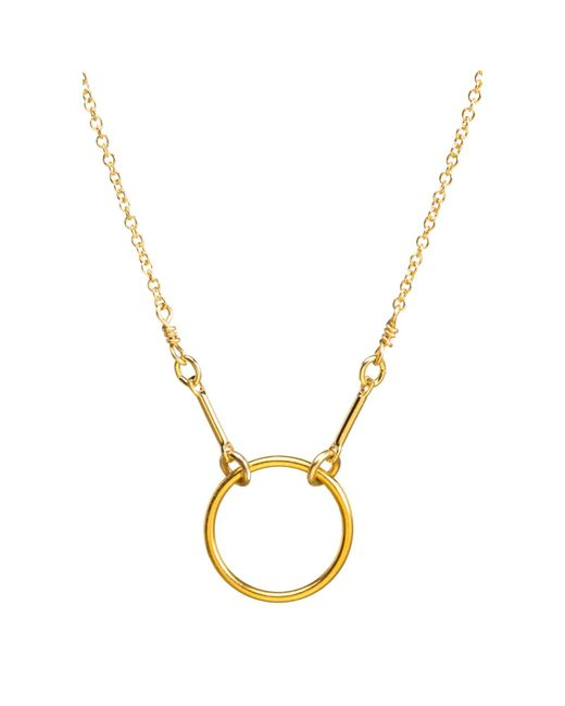 Dogeared   Metallic Gold Plated Original Karma Necklace   Lyst