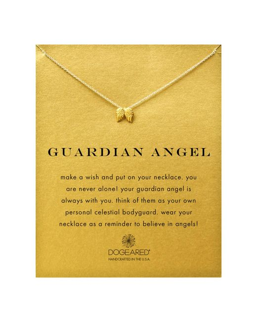 Dogeared | Metallic 14ct Gold Plated Guardian Angel Wings Reminder Necklace | Lyst