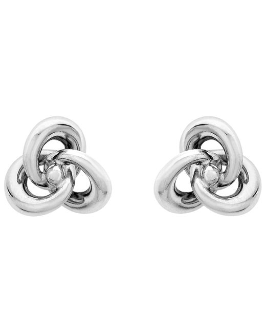 Ib&b | Metallic 9ct White Gold Knot Stud Earrings | Lyst