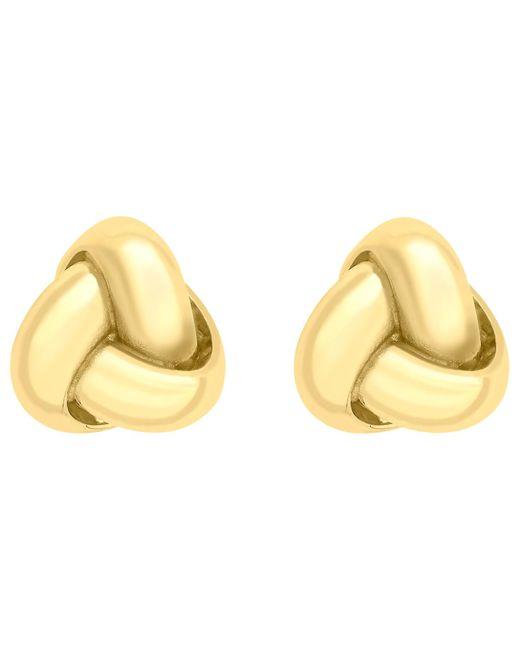 Ib&b | Metallic 9ct Gold Knot Stud Earrings | Lyst