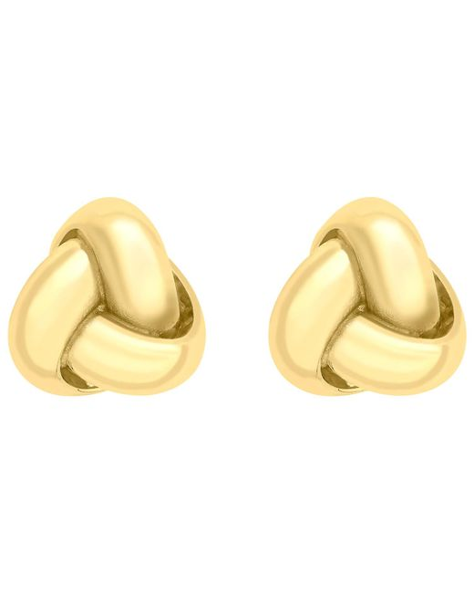 Ib&b | Metallic 9ct Gold 8mm Knot Stud Earrings | Lyst
