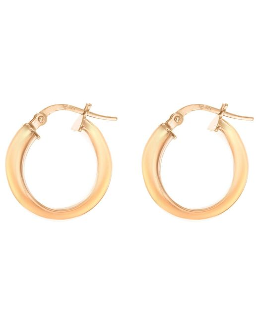 Ib&b | Pink 9ct Gold Polished Creole Earrings | Lyst