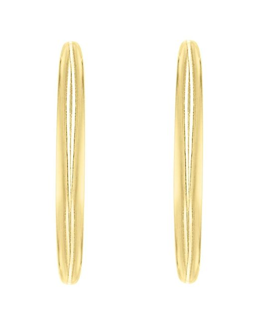 Ib&b | Metallic 9ct Gold Plain Hoop Earrings | Lyst