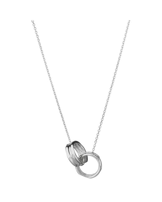 Links of London | Metallic 20/20 Sterling Silver Interlocking Necklace | Lyst
