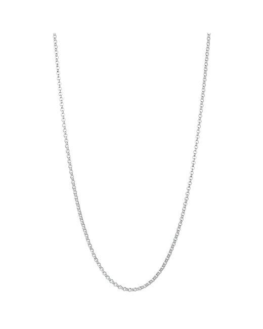 Links of London | Metallic Sterling Silver Mini Belcher Chain Necklace | Lyst