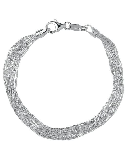 Links of London | Metallic Essentials Sterling Silver Silk 10 Row Bracelet | Lyst