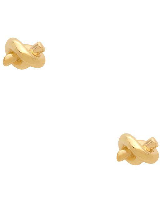 kate spade new york   Metallic Sailors Knot Studs Earrings   Lyst