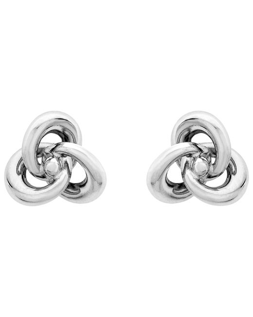 Ib&b | Metallic 9ct White Gold Knot Stud Earrings | Lyst