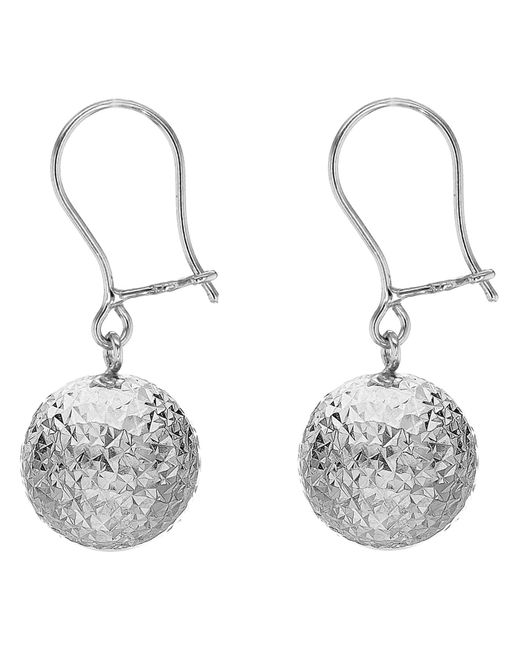 John Lewis - Metallic Ibb 9ct White Gold Ball Diamond-cut Drop Earrings - Lyst