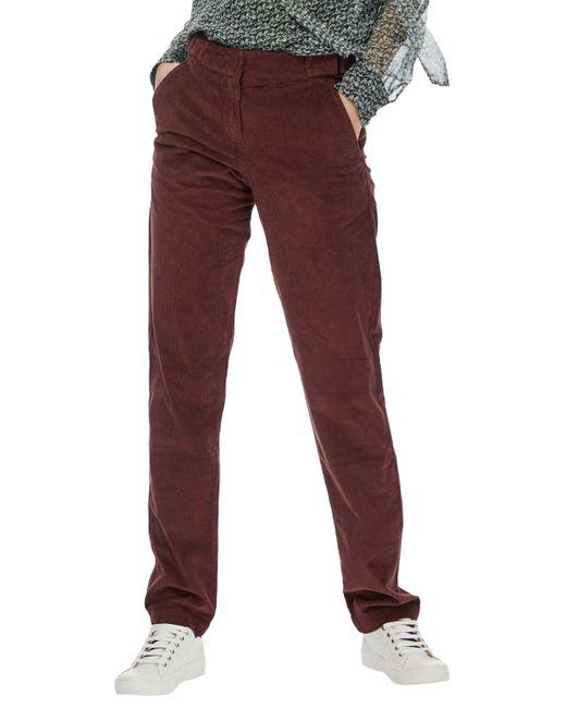 Brora   Red Jumbo Cord Trousers   Lyst