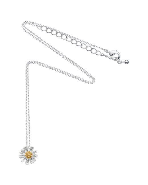 Estella Bartlett - Metallic Daisy Flower Pendant Necklace - Lyst