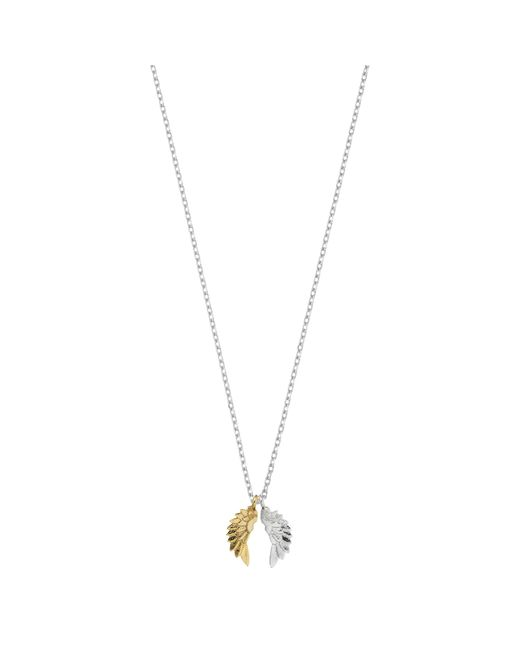 Estella Bartlett - Metallic Silver And Gold Plated Wings Pendant - Lyst