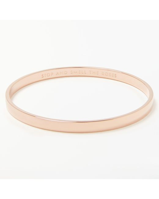 Kate Spade - Pink Stop And Smell The Roses Bangle - Lyst