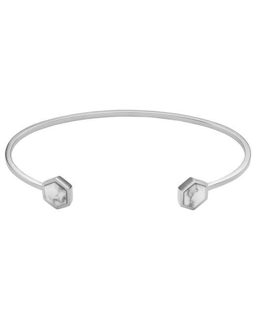 Cluse - Metallic Hexagonal Open Bangle - Lyst