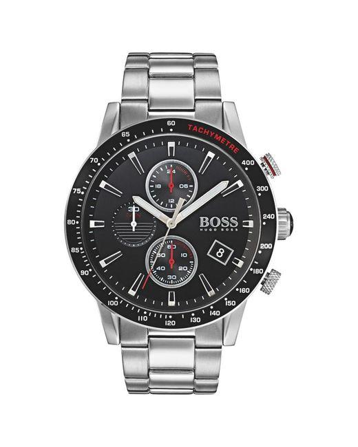 BOSS | Metallic 1513509 Men's Rafale Chronograph Date Bracelet Strap Watch  for Men | Lyst