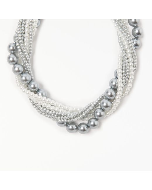 John Lewis | Multicolor Multi Row Faux Pearl Beaded Necklace | Lyst