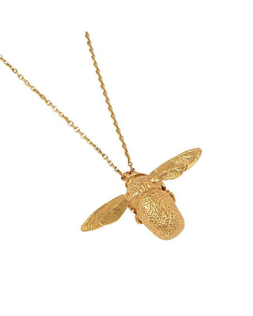 Alex Monroe   Metallic 22ct Gold Vermeil Bumble Bee Pendant Necklace   Lyst