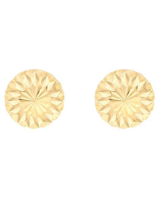 Ib&b | Metallic 9ct Gold Diamond Cut Half Ball Stud Earrings | Lyst