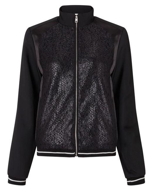 Calvin Klein | Black Olsa Material Mix Bomber Jacket | Lyst