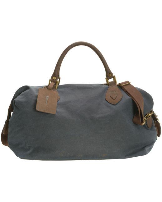 Barbour - Blue Wax Cotton Travel Explorer Holdall for Men - Lyst