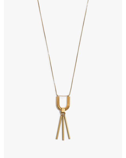 Madewell - Metallic Curvelink Pendant Necklace - Lyst